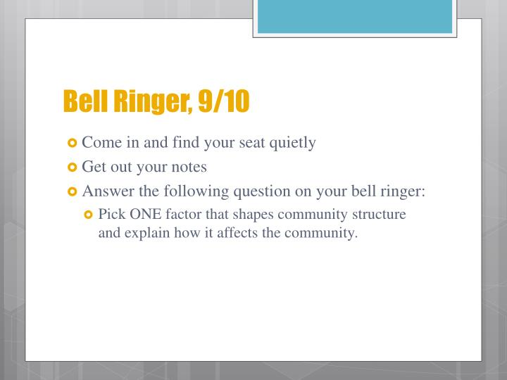 Bell Ringer, 9/10