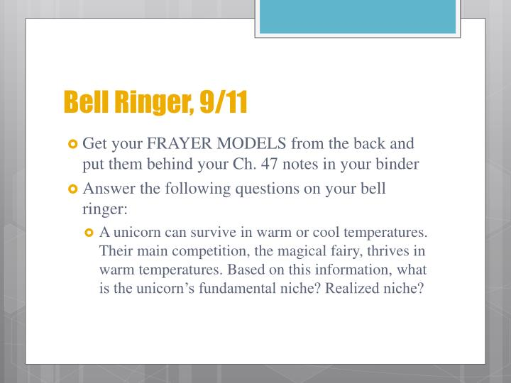 Bell Ringer, 9/11