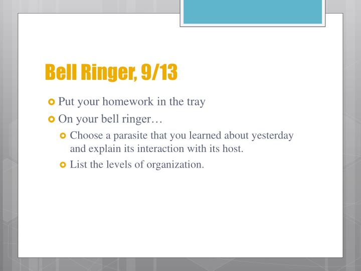 Bell Ringer, 9/13