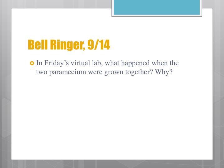 Bell Ringer, 9/14