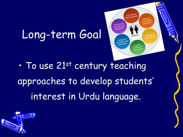 Long-term Goal