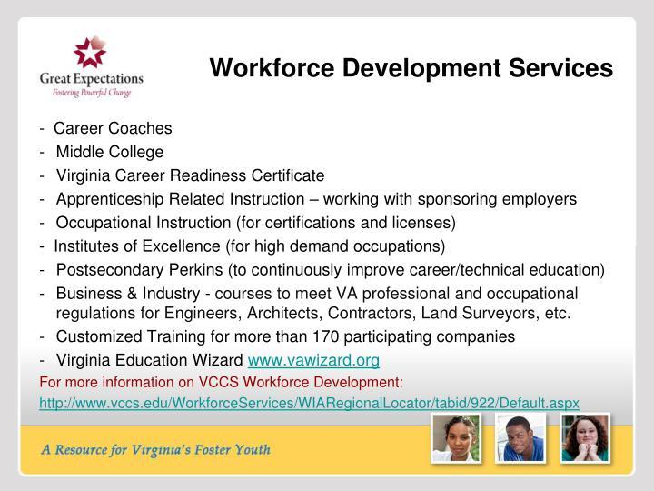 Workforce Development Services
