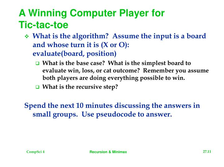 A Winning Computer Player for