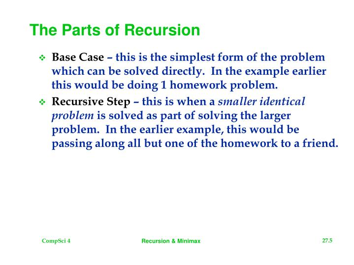 The Parts of Recursion
