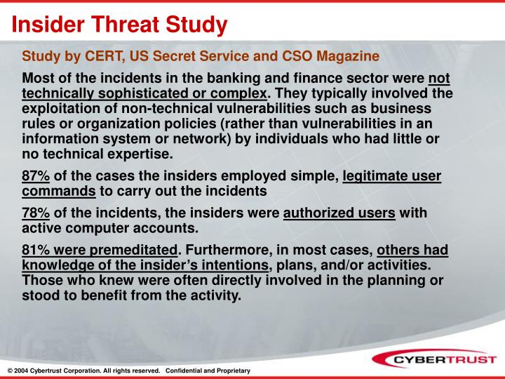 Insider Threat Study
