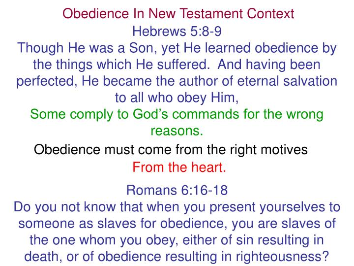 Obedience In New Testament Context