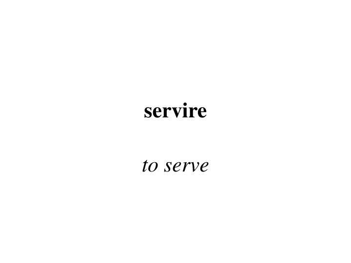 servire