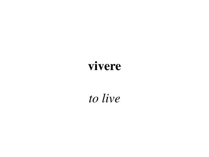 vivere