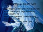 characters of death note
