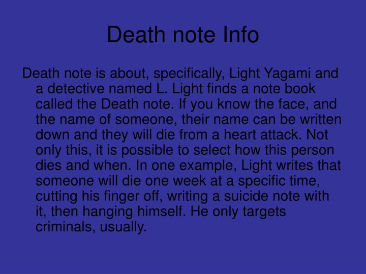 Death note Info