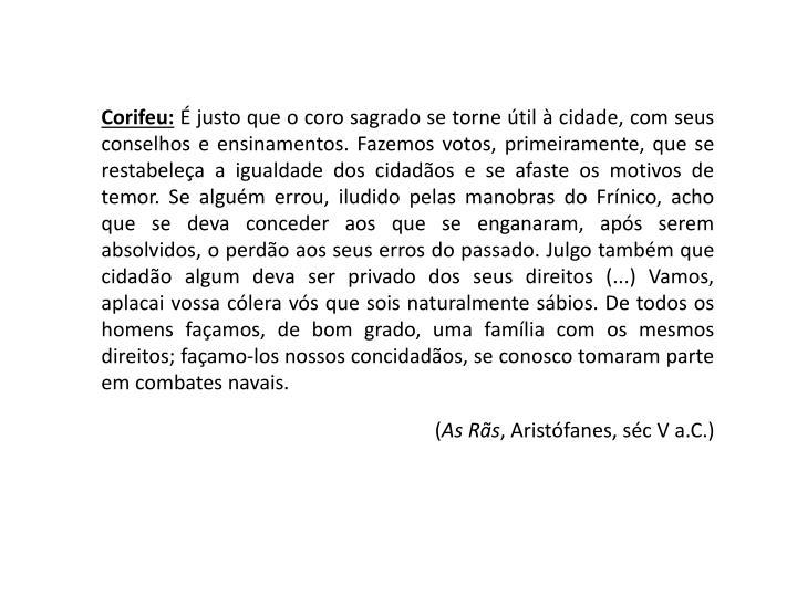 Corifeu: