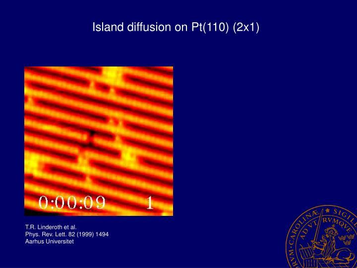 Island diffusion on Pt(110) (2x1)