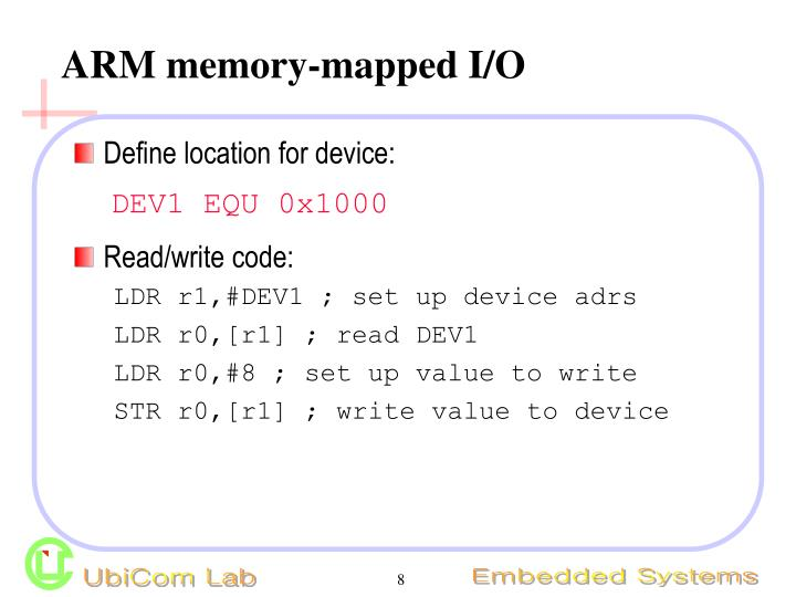 ARM memory-mapped I/O