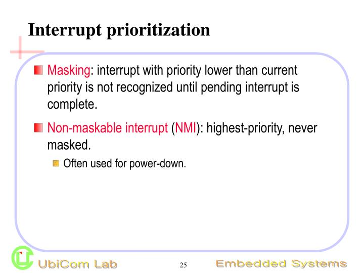 Interrupt prioritization