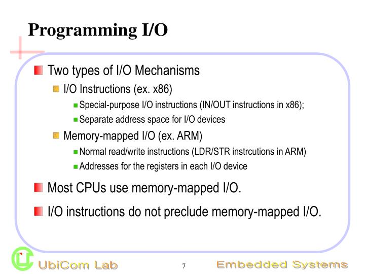 Programming I/O