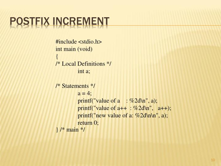 Postfix Increment