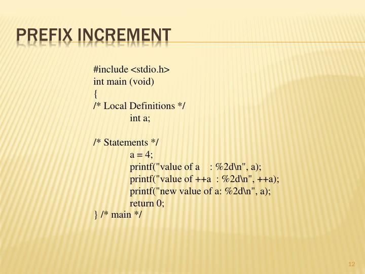 Prefix Increment