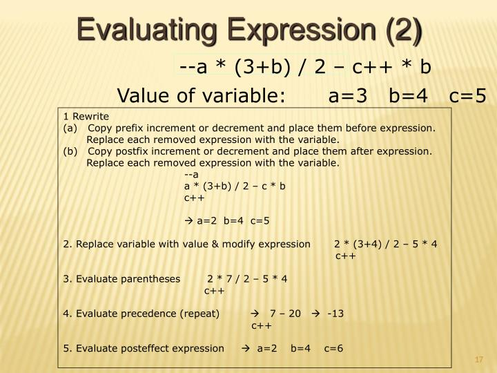 Evaluating Expression (2)