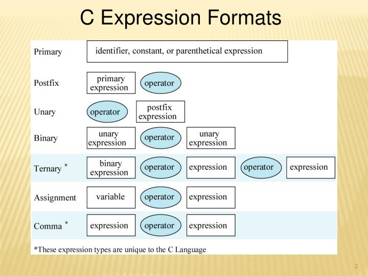 C Expression Formats