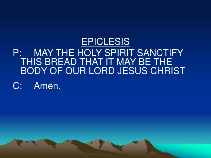 EPICLESIS