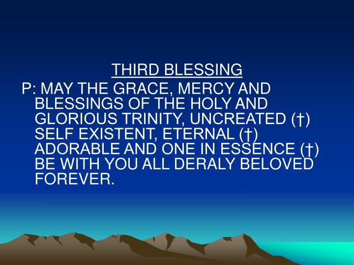 THIRD BLESSING