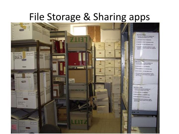 File Storage & Sharing apps