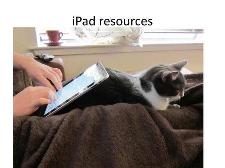 iPad resources
