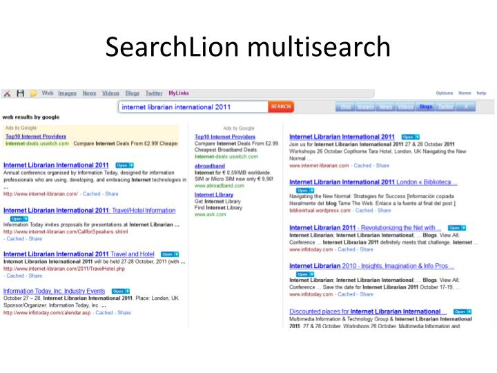 SearchLion multisearch