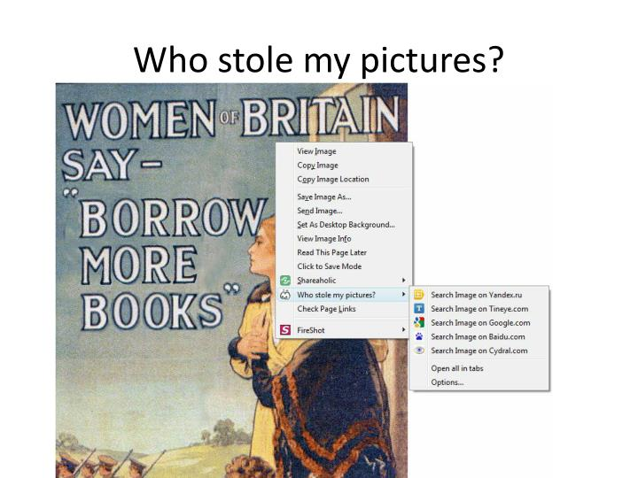 Who stole my pictures?