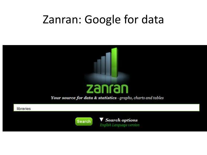 Zanran: Google for data