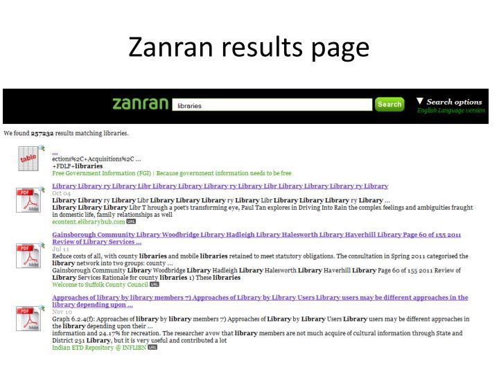 Zanran results page