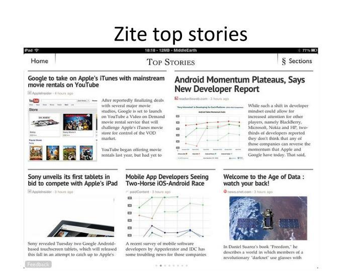 Zite top stories