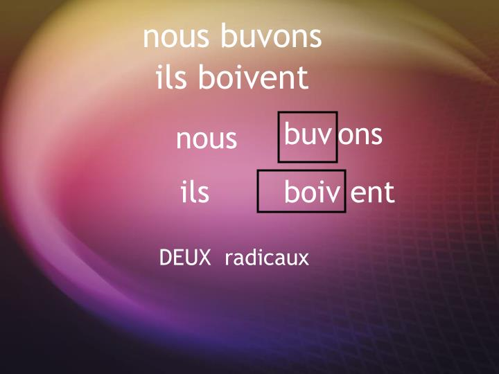 nous buvons