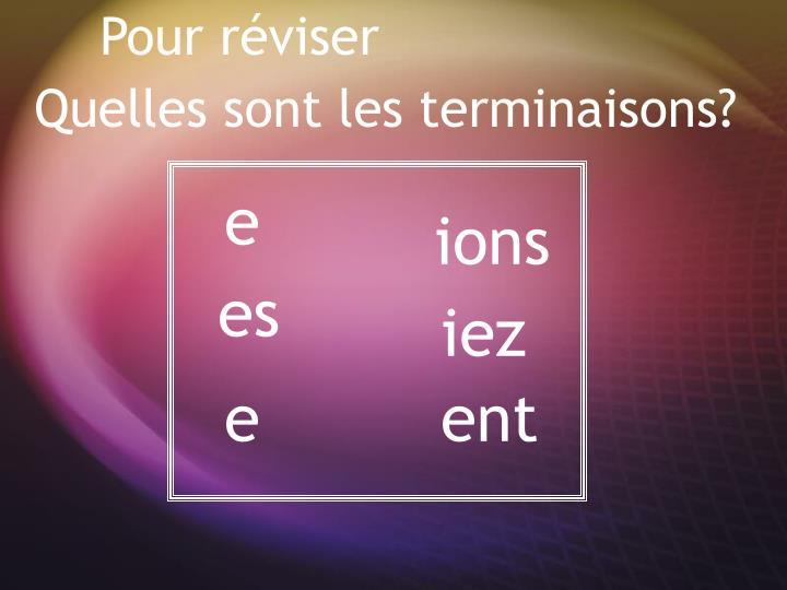 Pour r