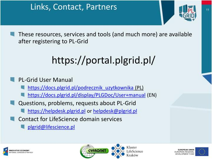 Links, Contact