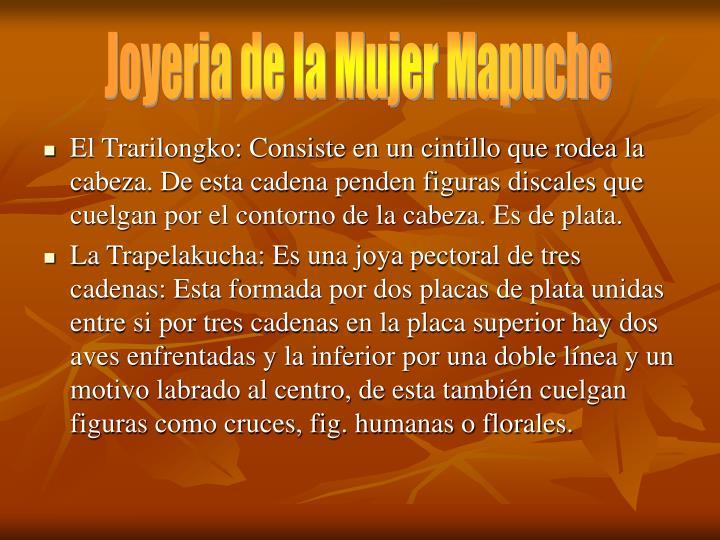 Joyeria de la Mujer Mapuche