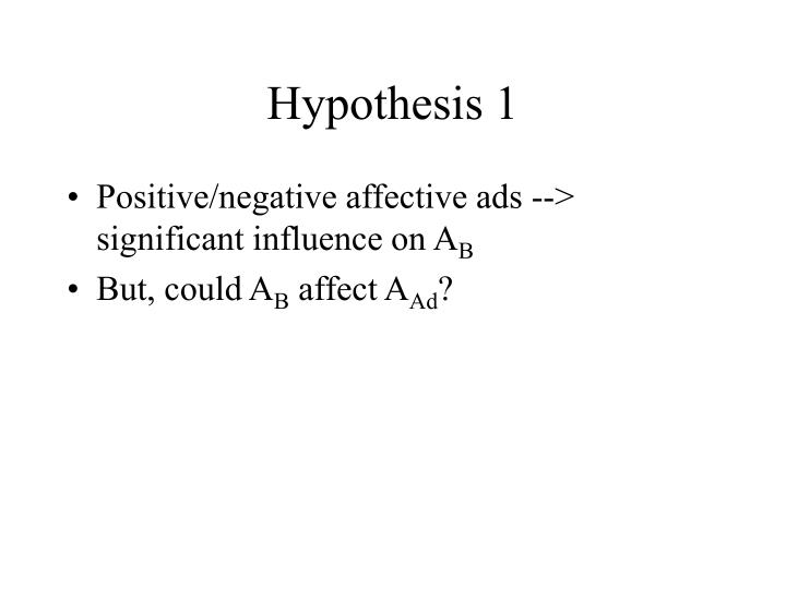 Hypothesis 1