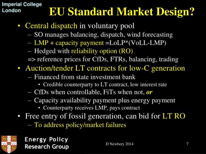EU Standard Market Design?
