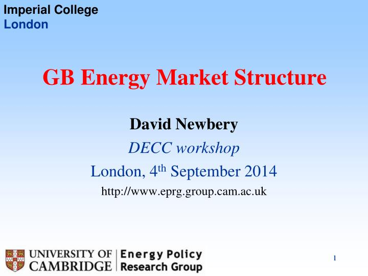 Gb energy market structure
