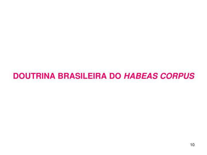 DOUTRINA BRASILEIRA DO