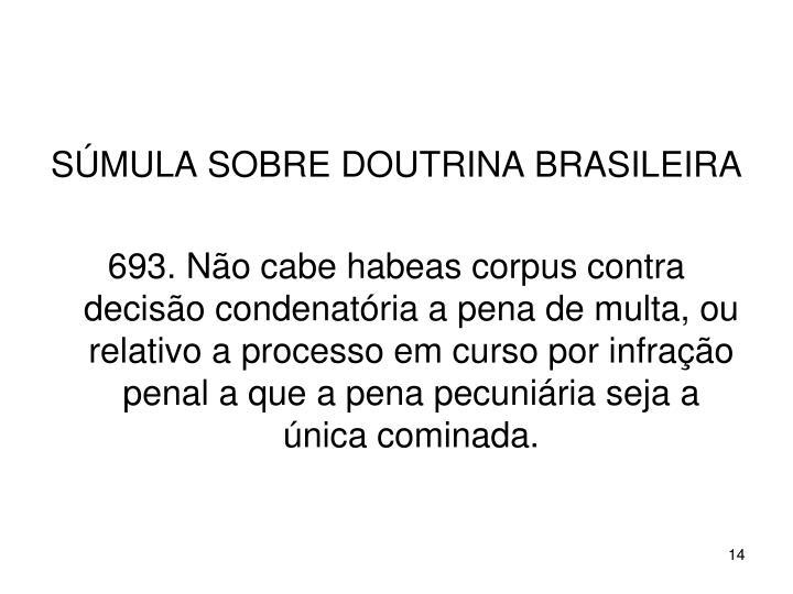 SÚMULA SOBRE DOUTRINA BRASILEIRA