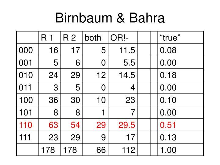 Birnbaum & Bahra