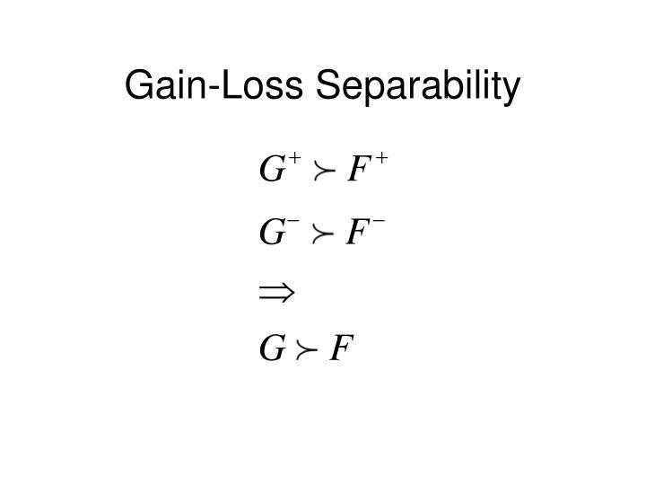 Gain-Loss Separability