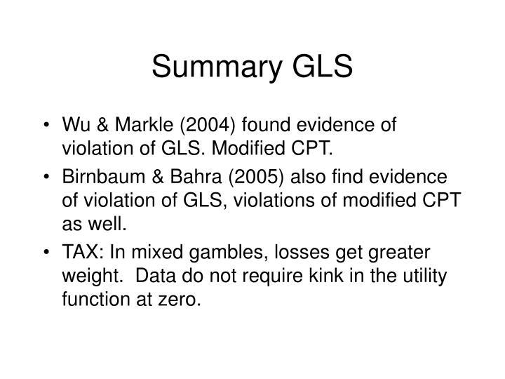Summary GLS