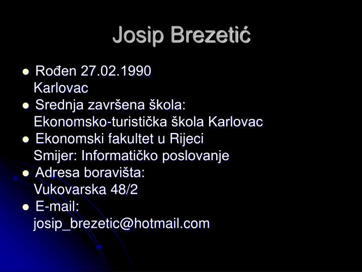Josip Brezetić