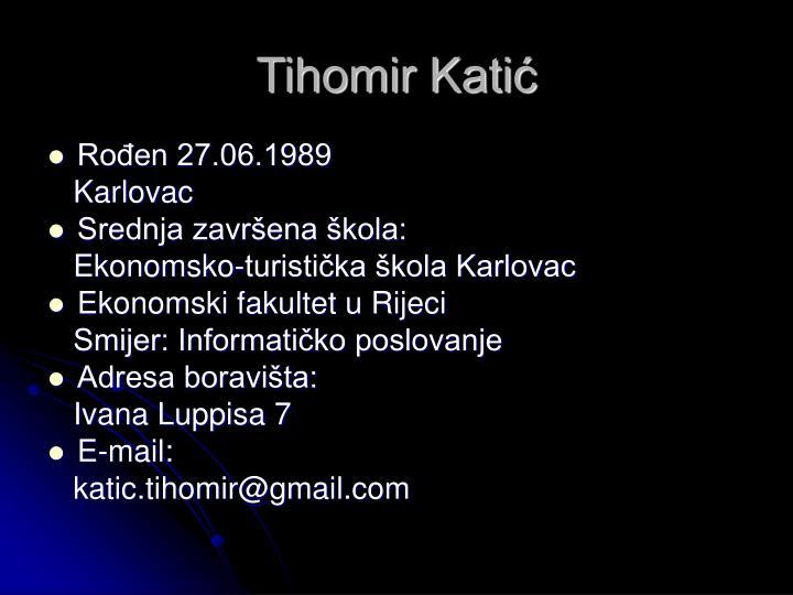 Tihomir Katić
