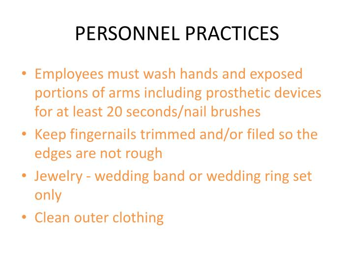 PERSONNEL PRACTICES