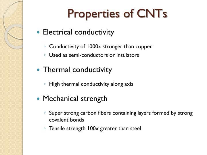 Properties of CNTs
