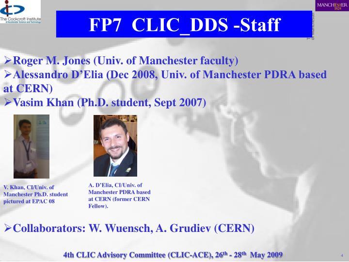 FP7  CLIC_DDS -Staff