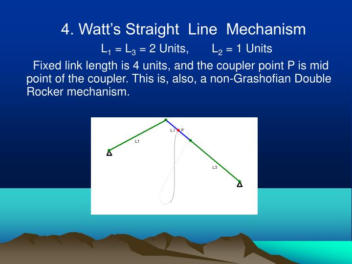 4. Watt's Straight  Line  Mechanism